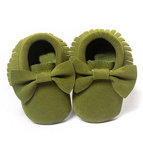 Culater® Culla nappe Bowknot pattini di bambino delle scarpe da tennis casuali verde dell'esercito