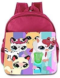 Kids Littlest Pet Shop School Backpack Fashion Baby Boys Girls School Bag Pink