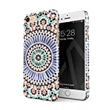 BURGA Hülle Kompatibel mit iPhone 7 / iPhone 8 Handy Huelle Pastel Illusion Moroccan Marrakesh Tile Pattern Colorful Mosaik Dünn, Robuste Rückschale aus Kunststoff Handyhülle Schutz Case Cover