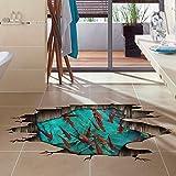 SAEJJ-3D solide Wandaufkleber Aufkleber Boden kreative Schlafzimmer Wohnzimmer Bad Wand Papier Dekorationen Boden Paste wasserdicht selbstklebend