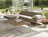 Hochwertige Queen's Garden Edelstahl Teakholz Lounge Baro 3-Personen / Sitzgruppe / Gartenmöbel / Outdoor