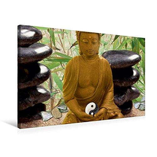 Premium Textil-Leinwand 75 cm x 50 cm quer, Ort der Meditation   Wandbild, Bild auf Keilrahmen, Fertigbild auf echter Leinwand, Leinwanddruck: Asiatische Lebenskunst (CALVENDO Gesundheit)