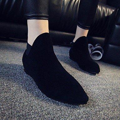 Peluche donna in pelle di primavera Comfort nero casual Black