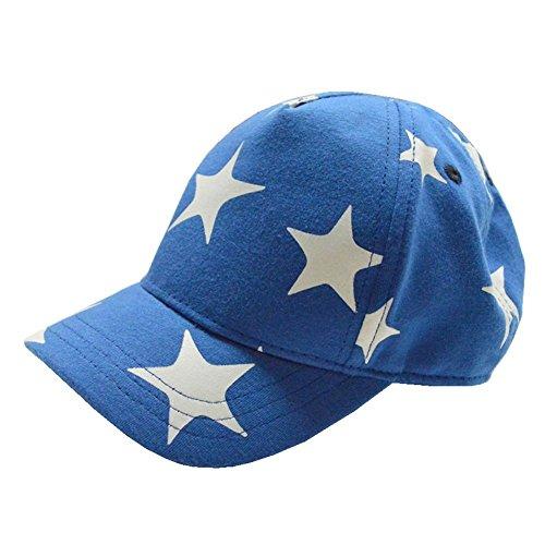 Decentron Kinder Jungen Mädchen süß Sterne Baumwolle Hut einstellbare Baseball Kappe UPF 50+ Sommer Sonnenkappe L