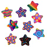 TOYMYTOY Roll of Cartoon Star Shaped Stickers Decals for Holiday Christmas Birthday