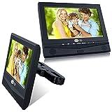 2x 10 Zoll DVD Player Auto Tragbarer Fernseher Kopfstütze Kinder mit 1024x600 Auflösung Bildschirm Solide Kopfstützehalterung nterstützt USB/SD Video