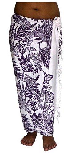 ca.100 Modelle im Shop Sarong Strandtuch Pareo Wickelrock Loop weiß lila Sar82