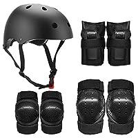 مجموعة أدوات واقية من ليكسادا 7 في 1 وسائد للكوع واقيات المعصم خوذة متعددة الرياضات لحماية السلامة للأطفال والمراهقين سكوتر التزلج وركوب الدراجات Large