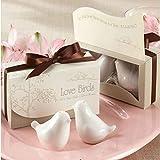 meisijia 2 Teile / paket Liebe Vögel Keramik Shaker Spice Glas Küche Gewürz Werkzeuge Hochzeit Geschenke Küche Werkzeuge