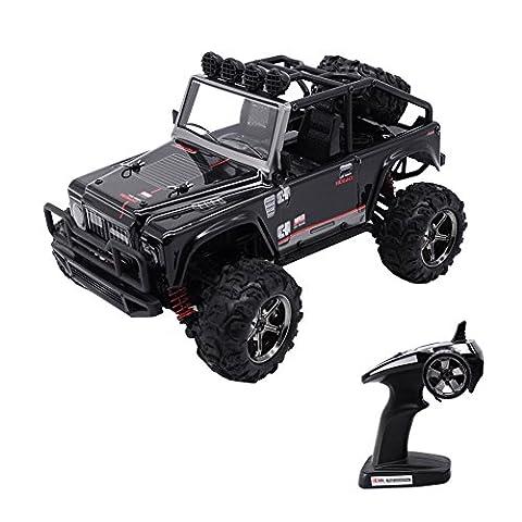 RC Auto, KELIWOW 1:22 4WD RC Jeep 40km / h Hochgeschwindigkeits-Geländewagen 2.4GHz 50 Meter Fernbedienung Elektro Buggy mit unabhängiger Aufhängung und LED-Leuchten (Tapfer