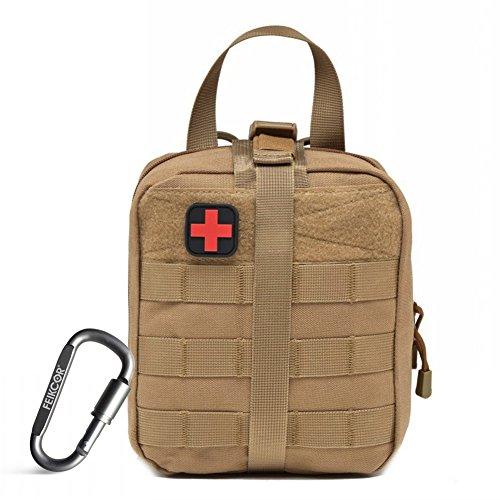 Rip-Away EMT Beutel Taktische MOLLE Medizinische Erste Hilfe IFAK Blowout Tasche 1000D - Bag Only (Khaki)