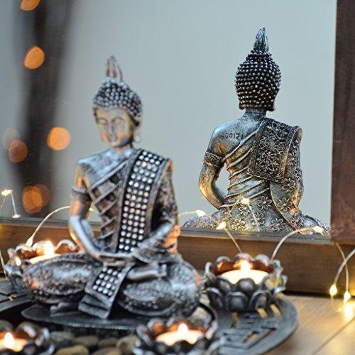 buddha-dekoteller-silber-mit-teelichthaltern-und-deko-steinen-2