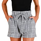 beautyjourney Pantaloncini sportivi donna estivi eleganti pantaloni donna corti estate shorts donna sportivi eleganti pigiama donna cotone estivo sexy - Pantaloncini donna corti estivi (S, Grigio)