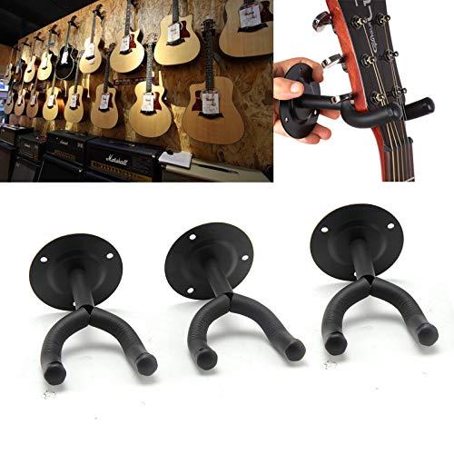 BALLSHOP Wandhalter 3er Set Gitarre Bass Skateboard Longboard Robustes Metall leichte Montage Gitarrenhalter Gitarrenwandhalterung Wandhalterung