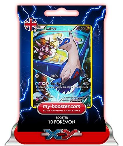 Latios Ex Karten Pokemon (LATIOS reverse holo Alf Art XY79 100HP XY08 - Booster mit 10 Englisch Karten Pokemon my-booster)