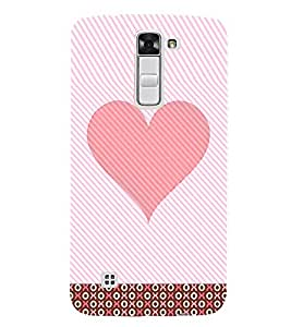 Pink Heart 3D Hard Polycarbonate Designer Back Case Cover for LG K7 :: LG K7 Dual SIM :: LG K7 X210 X210DS MS330 :: LG Tribute 5 LS675