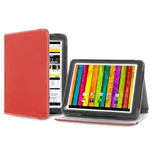 """Cover-Up Étui Housse pour Archos 80b Platinum (8"""") Tablette (Version avec Support) – Rouge"""