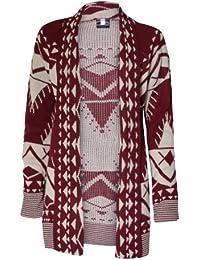 (womens drape front aztec long cardigan) (mtc) Azteken-cardigan Damen lang