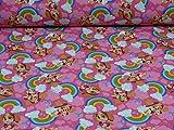 Paw Patrol Nano Softshell Stoff Skye, Regenbogen, pink