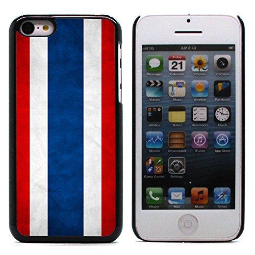 Graphic4You Vintage Uralt Flagge Von Malaysia Malaysier Design Harte Hülle Case Tasche Schutzhülle für Apple iPhone 5C Thailand Thailändisch