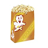 50 Popcorn Tüten Poppy Rot / Gelb Gr. 1 - klein