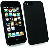 Emartbuy ® Apple Iphone 5 5G Silikon Skin Cover / Case Black