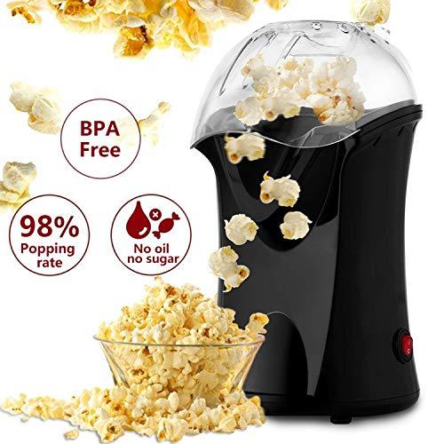 Elektrische Heißluft-Popcorn-Maschine Popper-Maschine Schneller Popcorn-Hersteller mit Messbecher und abnehmbarer Abdeckung ideal für den Heimgebrauch Ohne Öl BPA-Free 1200 W