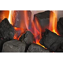 30 Random Mixed Gas Fire Ceramic Coals Replacement Grate Glow/Bio Fuels/Ceramic/Boxed DIRECT FROM MANUFACTURER
