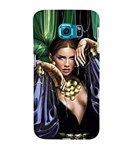 EPICCASE Loevly lady Mobile Back Case Cover For Samsung Galaxy S6 Edge (Designer Case)