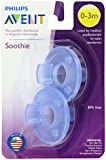 Philips 2 Pack AVENT Soothie Pacifier, Blue, 0-3 Months