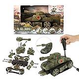 Toi-Toys 15111A Militär Panzer Camouflage Jungen Bausatz Einzelteile Kinder Spielzeug