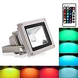 BLINNGO Proiettore Esterno a LED, Luci di Sicurezza Impermeabili da 10 W per Giardino, Punto Panoramico, Hotel (RGBW)
