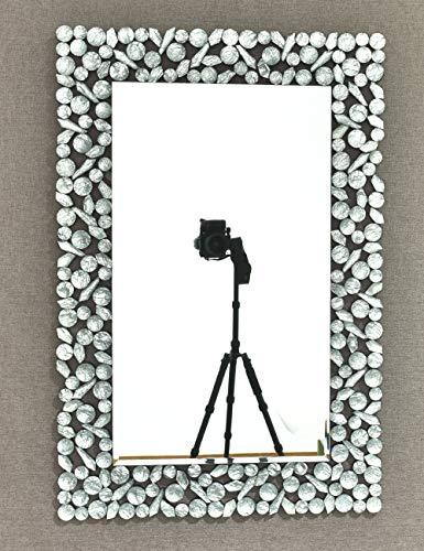 MX.home Wandspiegel, Kunstharz, dekorativ, abgeschrägte Kanten, rechteckig, venezianischer Spiegel für Badezimmer -
