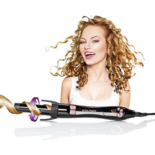 Fer à boucler rotatif de Styler 45 W Noir (120–220 °C Convient à tous les types de cheveux, boucle de cheveux Styler)