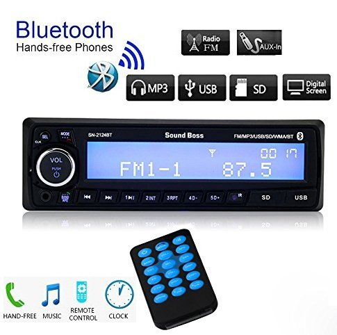 sound boss sn-2124bt car stereo with bluetooth Sound Boss SN-2124BT Car Stereo with Bluetooth 51R1JNnpfmL