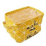 HENGSONG Praktische Aufbewahrungsbox Korb Kosmetik Koffer Make-up Tasche Spielzeug Ablagebox Desktop Organizer für Haus Kinderzimmer Büro Aufbewahrung (Gelb)