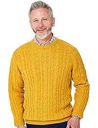 Pegasus Mens Shetland Cable Crew Sweater
