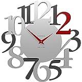 CalleaDesign 45 cm Orologio da Parete Russell Rubino