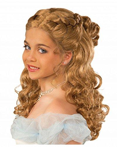Blonde geflochtene Mädchen Perücke Cinderella Prinzessin in - Cinderella Kostüm Perücke