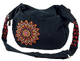 Guru-Shop Ethno Boho Schultertasche, Goa Tasche Mandala - Schwarz/rot, Herren/Damen, Baumwolle, Size:One Size, 26x33x5 cm, Alternative Umhängetasche, Handtasche aus Stoff