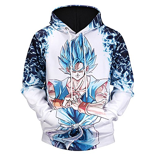 FUANDA Sudaderas con capucha de manga larga Anime Dragon Ball Series(0