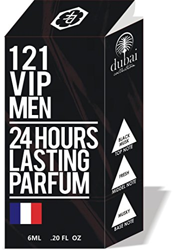 121 VIP MEN PERFUME ROLLON FOR MEN 6ML BEST ATTAR FOR MEN, 24 HOURS LONG LASTING PERFUME MOST ATTRACTIVE FRAGRANCE FOR MEN, 100% ALCOHOL FREE