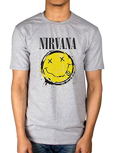Official Nirvana Smiley Splat T-Shirt