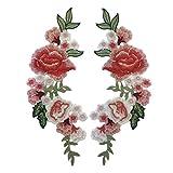 Blue Vessel Neue Stickerei Seide Rose Blume Motiv Kragen Nähen auf Patch Applique Abzeichen Gestickt Büste Kleid