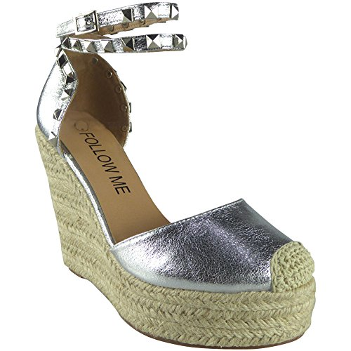 CORE COLLECTION Tess, Damen Espadrilles Silber Silber Tess Stud