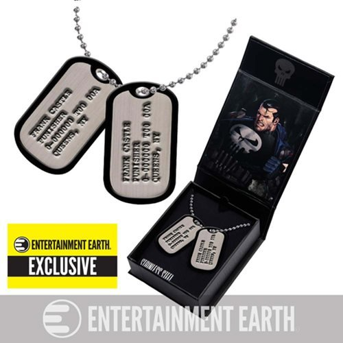 Marvel Comics - Punisher Frank Castle Exclusive Replica Dog Tags Collectable