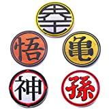 Oyster-Patch Dragon Ball Z Goku Custom Tactical Patch Hook & Loop 5PCS
