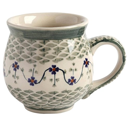 basketweave-floral-handmade-barrel-mug-manufaktura-w-boleslawiec-genuine-hand-painted-polish-pottery