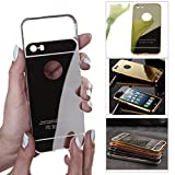 DMG Ultra Luxury Air Aluminum Metal Bumper Detachable + Mirror Hard Back Case for Apple iPhone 5 5S (Gold)