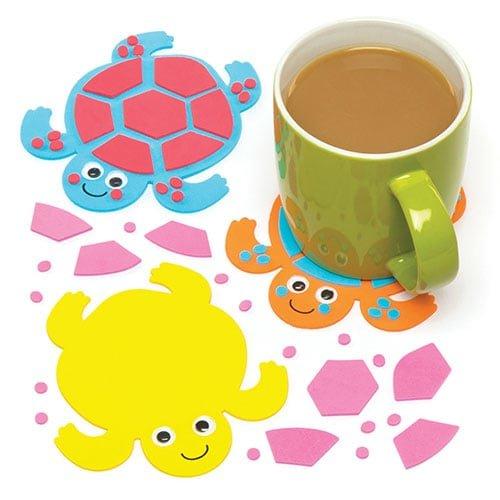 """ts """"Schildkröte"""" für Kinder zum Basteln und als Deko – Kreatives Bastelset für Kinder (6 Stück) (Handwerk Ideen Für Jungen)"""
